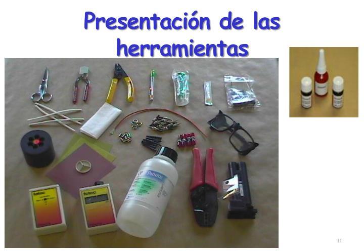 Presentación de las herramientas