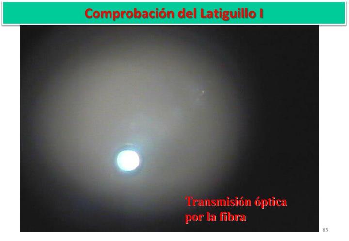 Comprobación del Latiguillo I