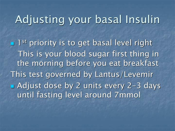 Adjusting your basal Insulin
