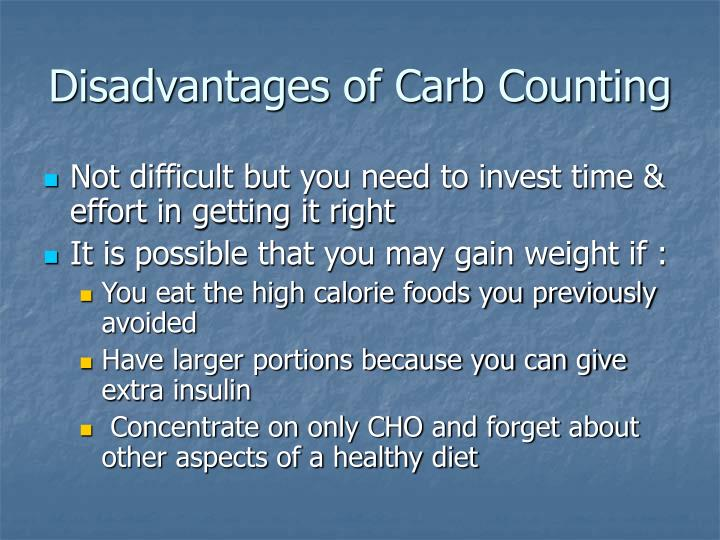 Disadvantages of Carb Counting