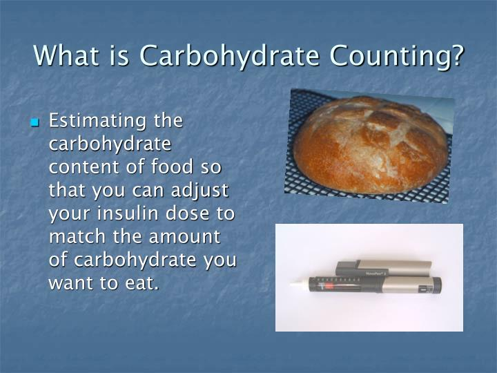 What is carbohydrate counting