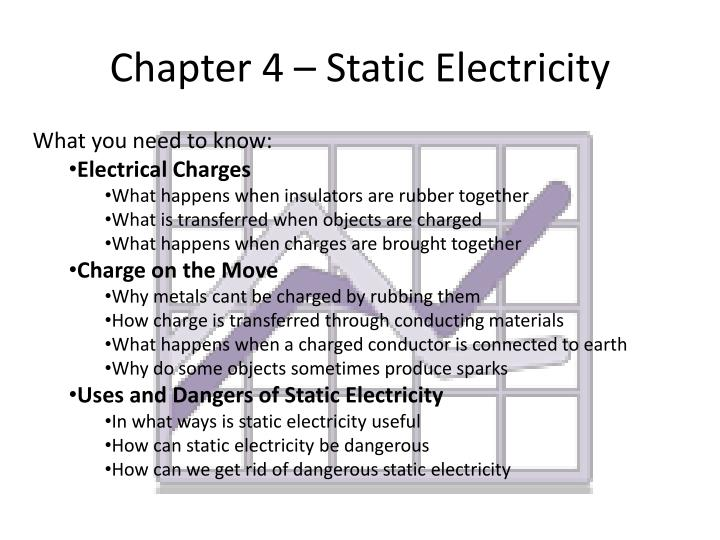 Chapter 4 – Static Electricity