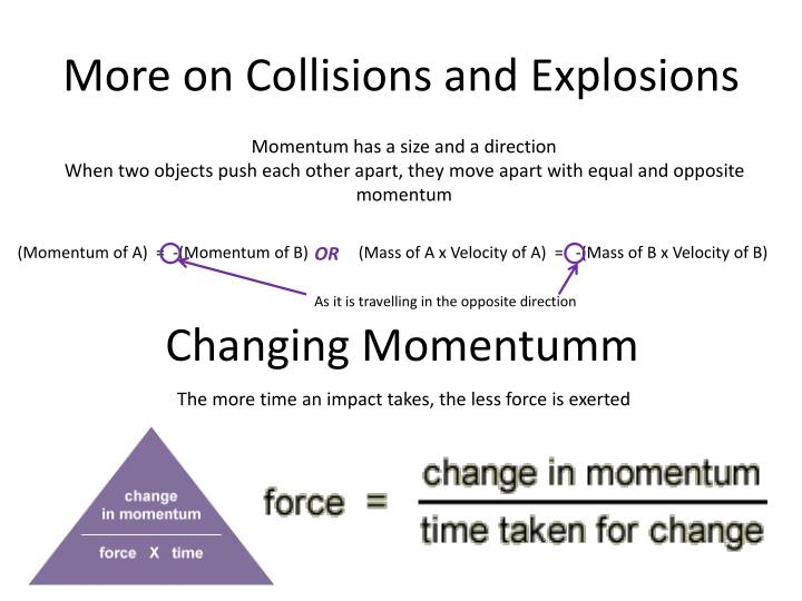 More on Collisions and Explosions
