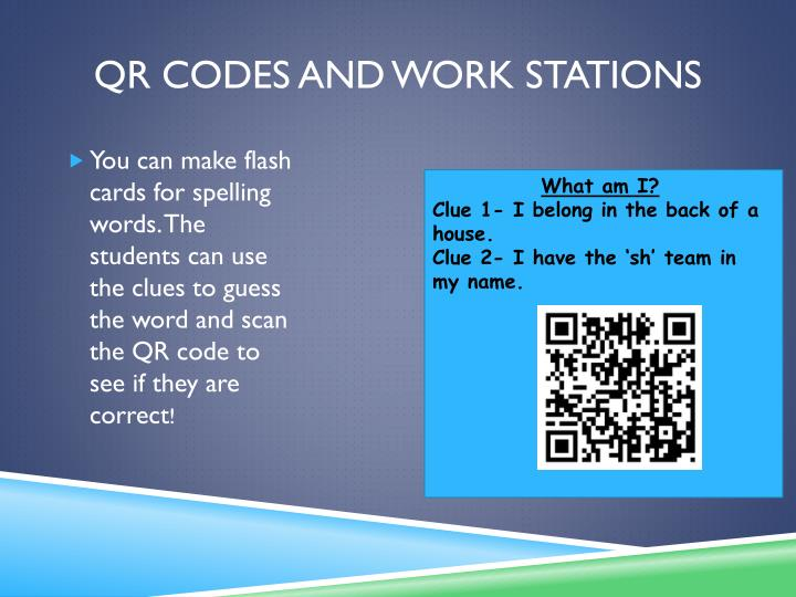 QR Codes and work stations