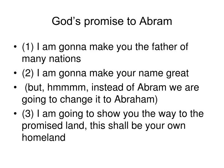 God's promise to Abram