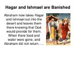 hagar and ishmael are banished