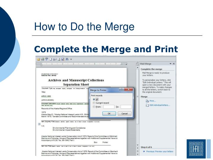 How to Do the Merge