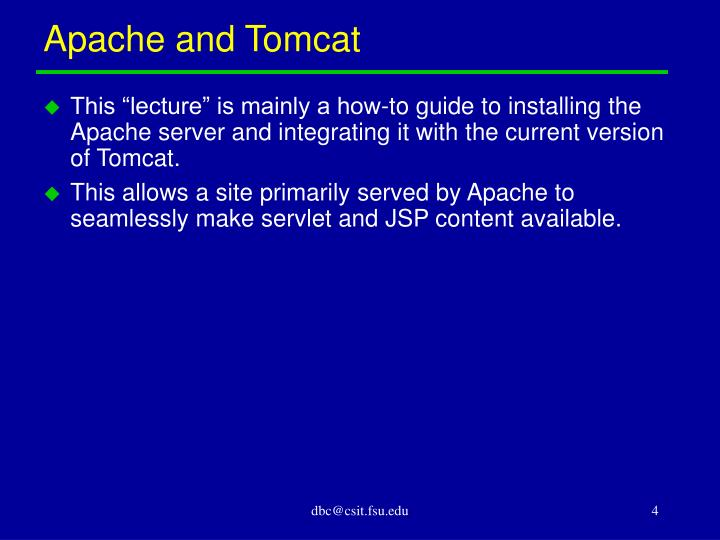 Apache and Tomcat