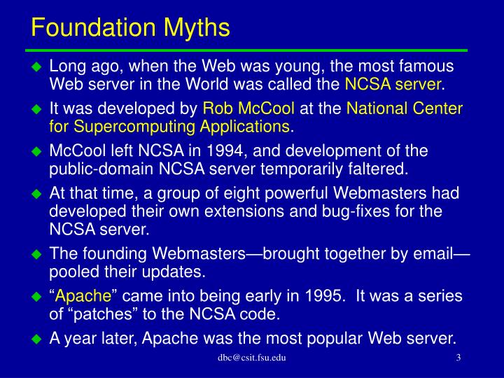 Foundation myths
