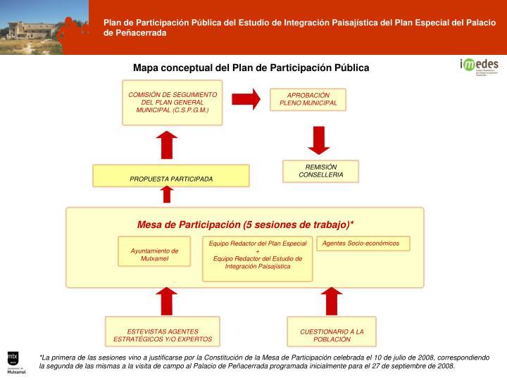 Mapa conceptual del Plan de Participación Pública