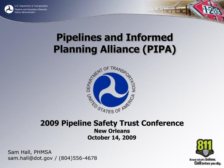 Sam Hall, PHMSA