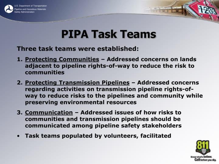 PIPA Task Teams