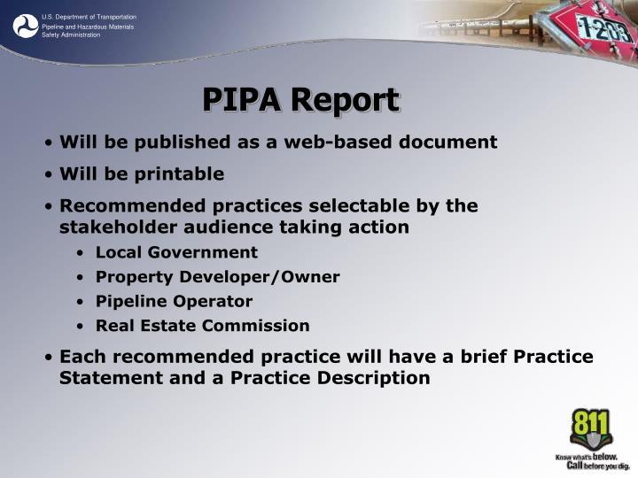 PIPA Report
