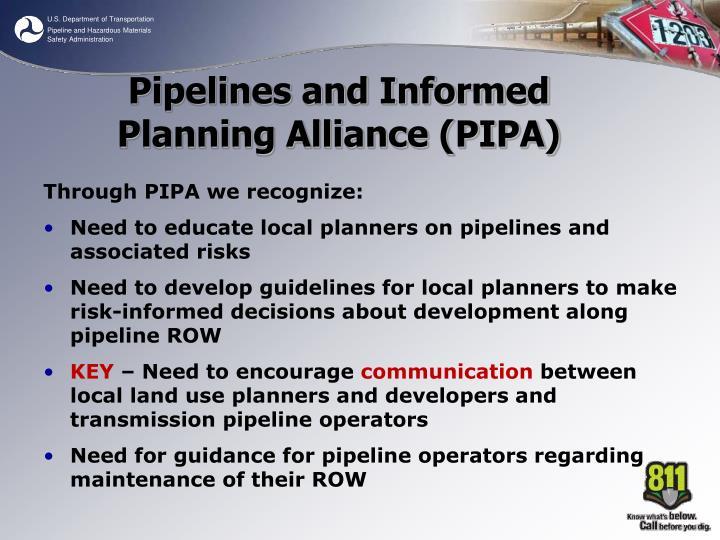 Through PIPA we recognize: