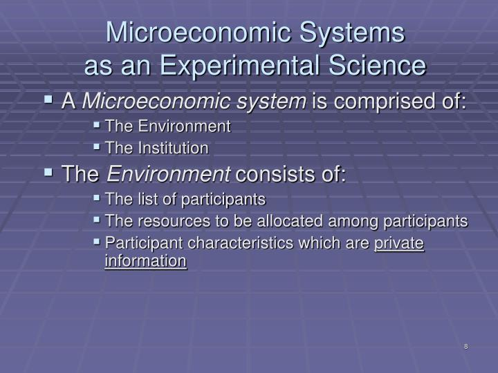 Microeconomic Systems