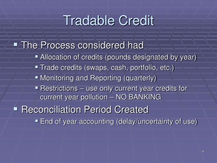 Tradable Credit