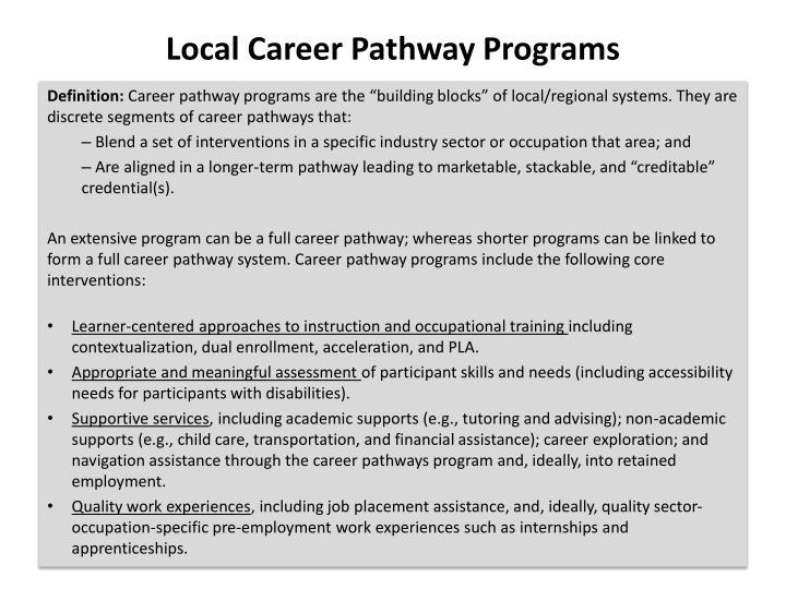 Local Career Pathway Programs