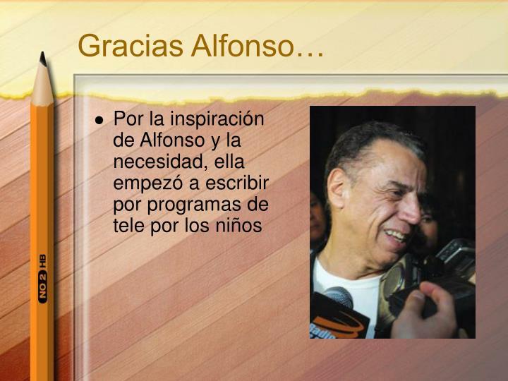 Gracias Alfonso…