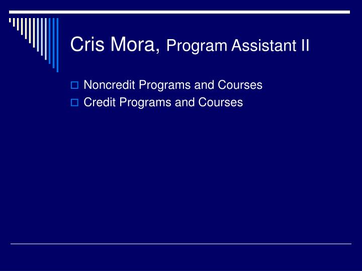 Cris Mora,