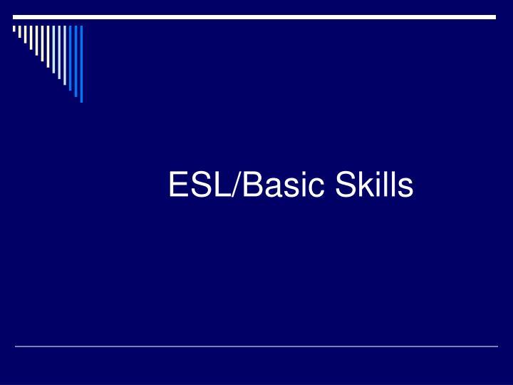 ESL/Basic Skills