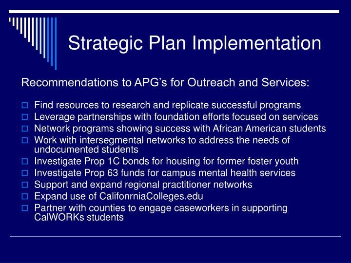 Strategic Plan Implementation