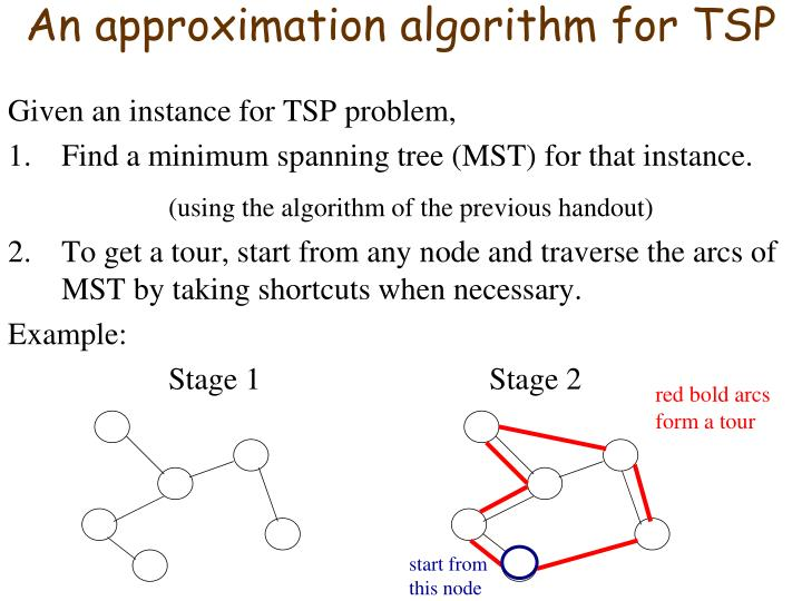 An approximation algorithm for TSP