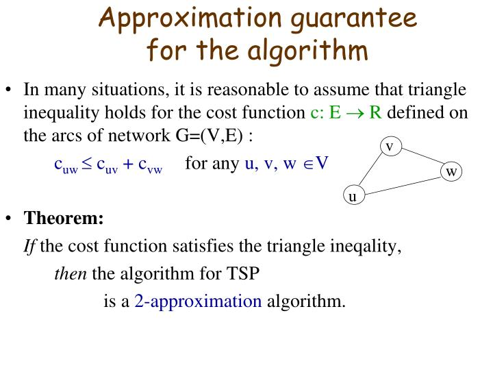 Approximation guarantee