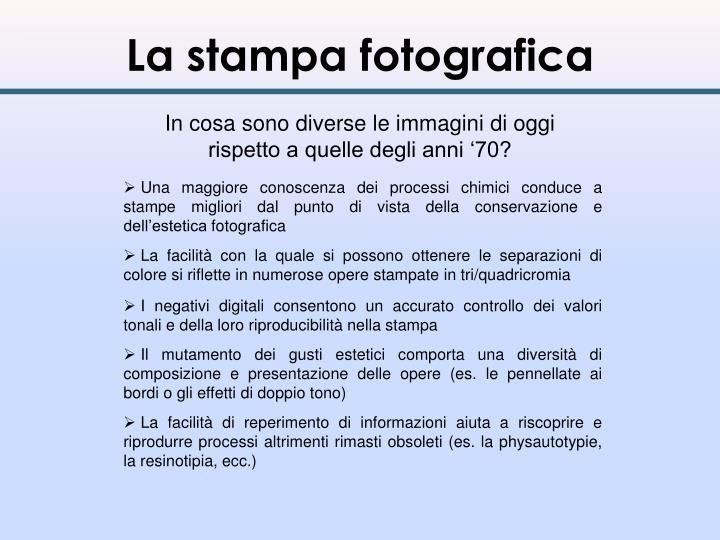 La stampa fotografica