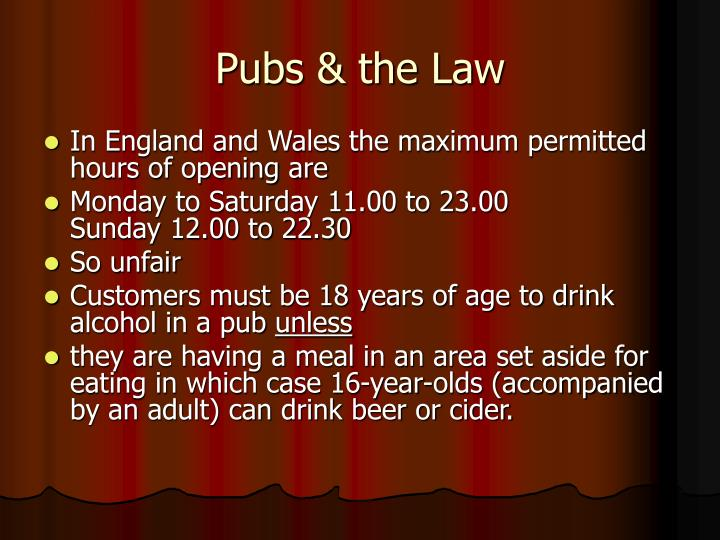 Pubs & the Law