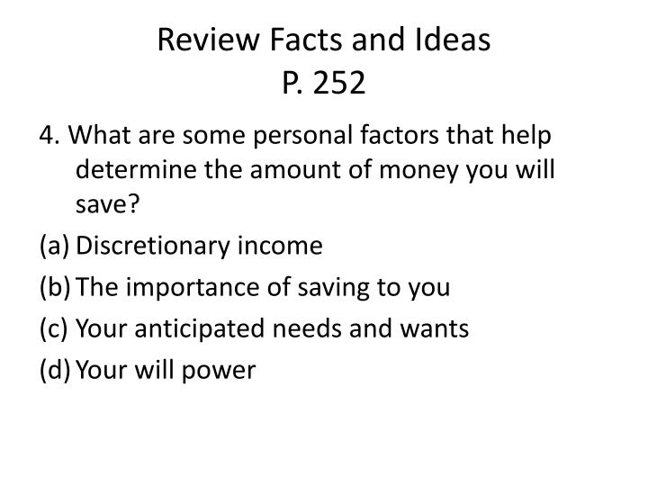 Review Facts and Ideas