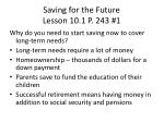saving for the future lesson 10 1 p 243 1