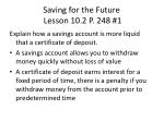 saving for the future lesson 10 2 p 248 1