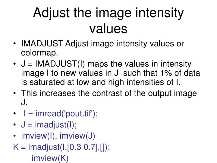 Adjust the image