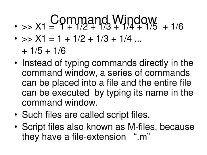 Command Window