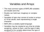 variables and arrays4