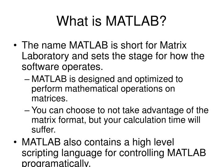 What is matlab1