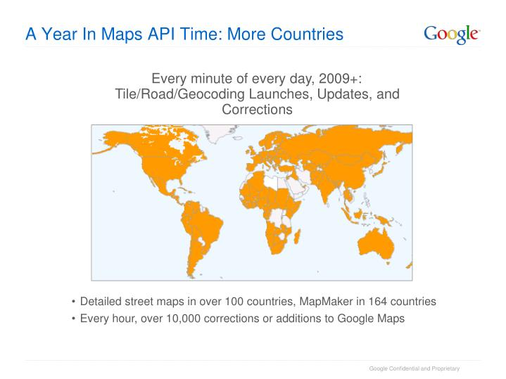 A Year In Maps API Time: More Countries