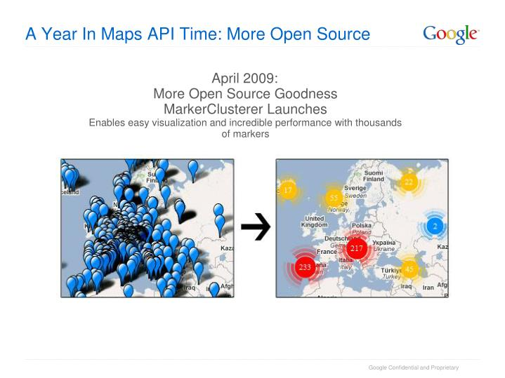 A Year In Maps API Time: More Open Source