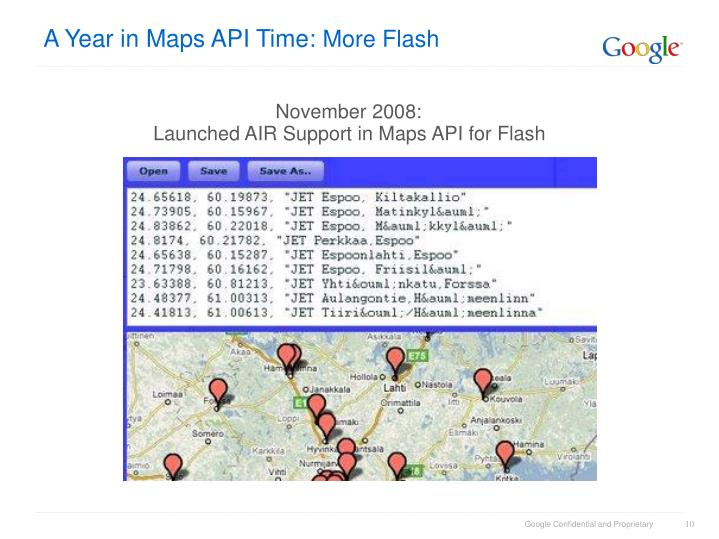 A Year in Maps API Time: