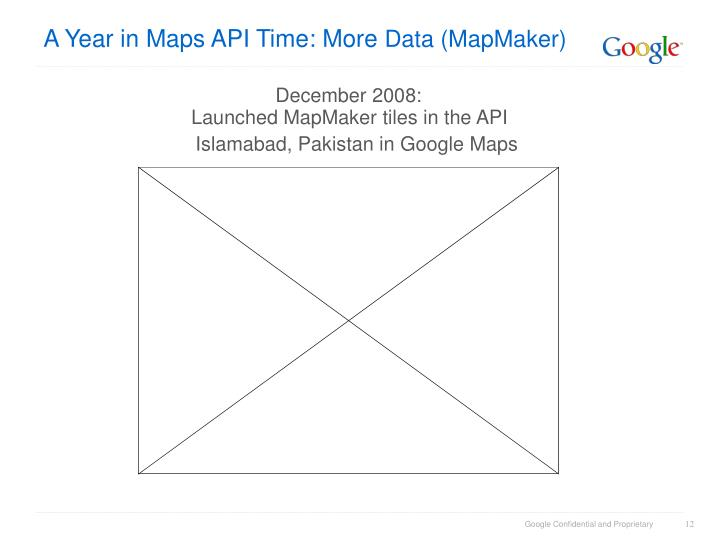 A Year in Maps API Time: More