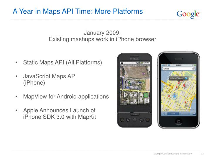 A Year in Maps API Time: More Platforms