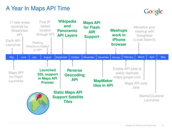 A Year In Maps API Time