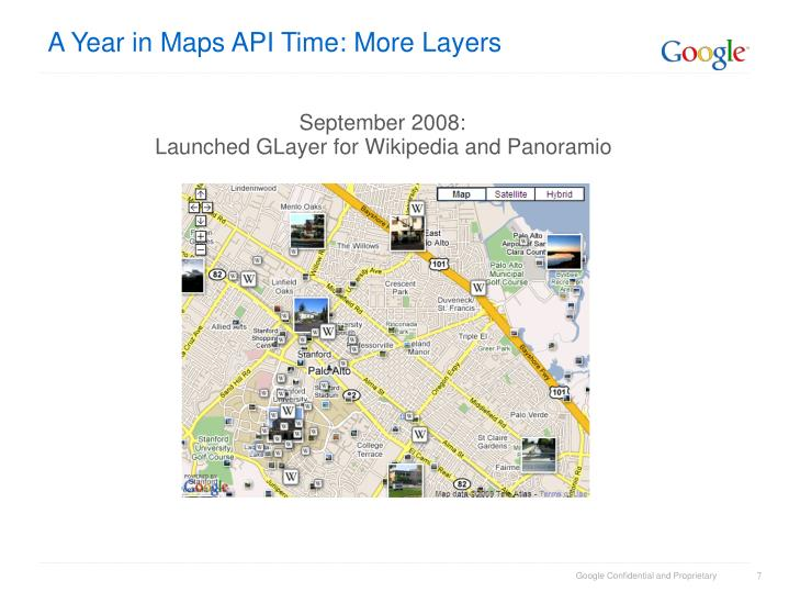 A Year in Maps API Time: More Layers