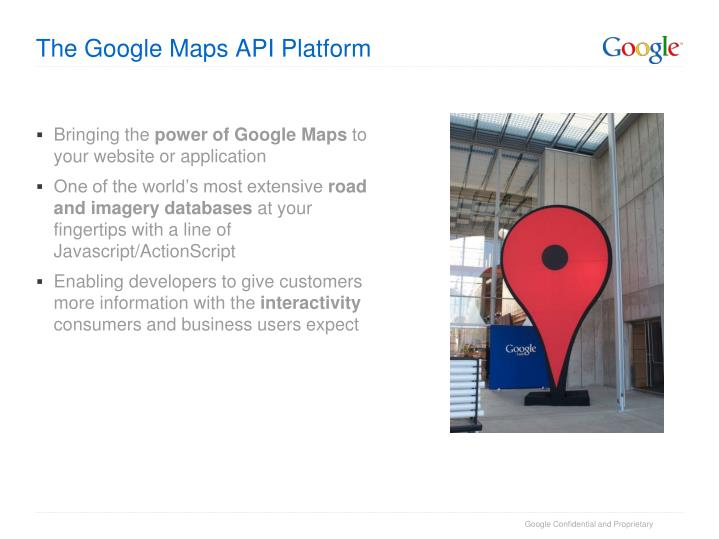 The Google Maps API Platform
