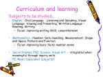 curriculum and learning