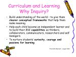 curriculum and learning why inquiry