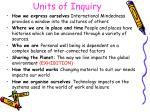 units of inquiry