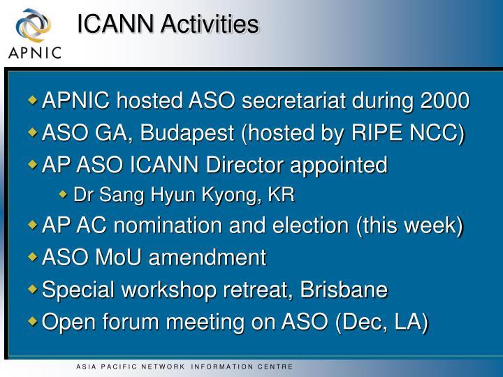 ICANN Activities