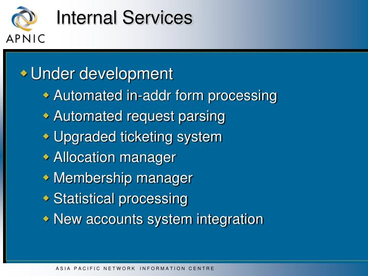 Internal Services