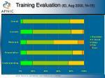 training evaluation id aug 2000 n 15